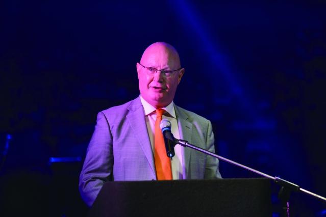 香港駐紐約經濟貿易辦事處處長(Steve Barclay)柏嘉禮致詞
