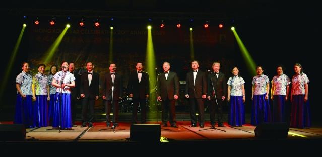 黃河藝術團演出合唱曲《少林組曲》