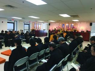 參加同修們共同誦經祈福
