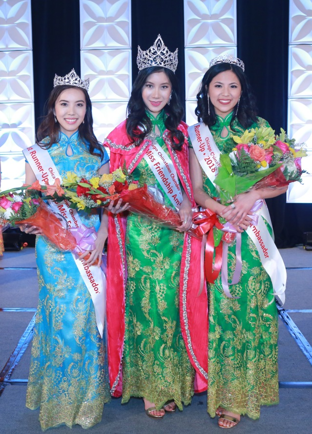 MFA Winners 1st Runner Up Qin Fan, 2018 MFA Ida Duan, 2nd Runner Up Brittany Lau