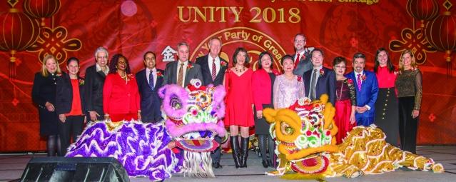 05 貴賓們以及美國政要和祥獅獻瑞迎新春