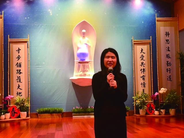 華僑文教中心副主任賴貞利感恩祝福