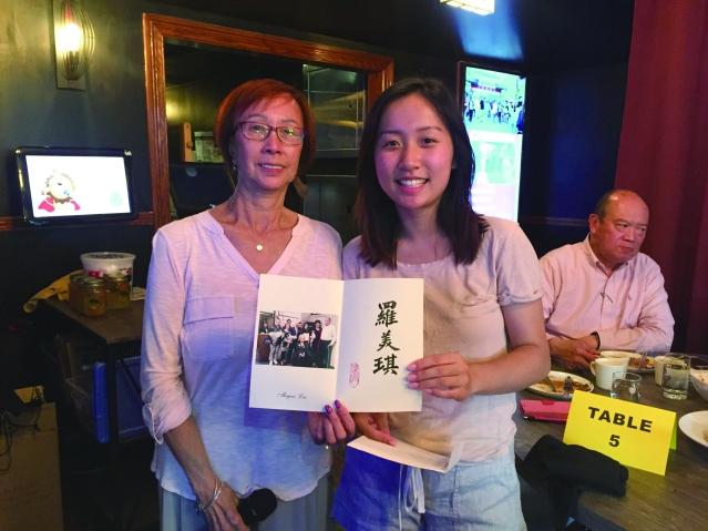 合影:劉黃婉嫻(左)和羅美琪(右)
