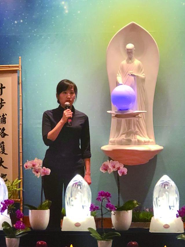 慈濟人文學校管弦樂團的老師徐嘉霙分享《加入慈濟》的見證