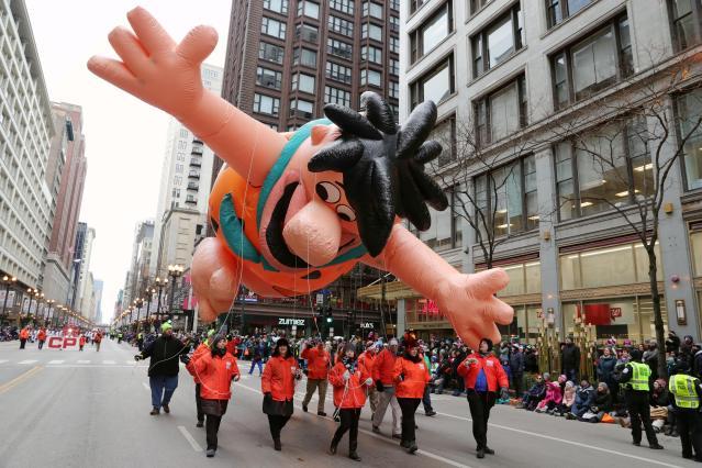 大型氣球是每年感恩節大遊行亮點之一
