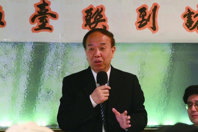 照片一:上海臺聯會書記高開雲感謝芝加哥僑胞舉行兩岸親情座談會