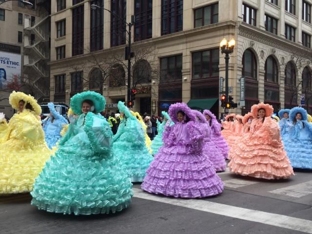 色彩繽紛的蓬蓬裙舞蹈表演