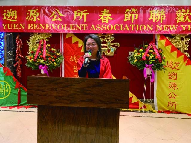 照片三:中華會館主席黃于紋致辭