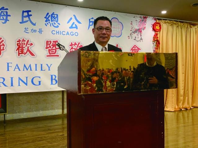 照片二:梅氏總公所主席國棟致歡迎詞