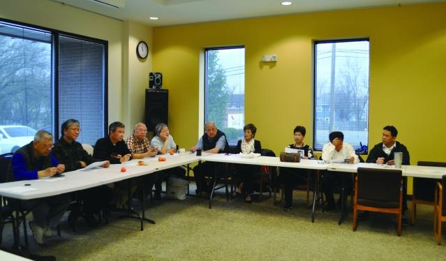 芝加哥台灣同鄉聯誼會第二次理事顧問會議一角