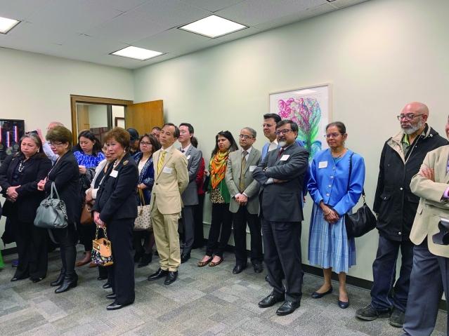 照片二:眾多不同族裔的代表均出席了活動