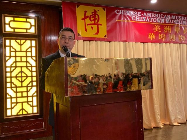 照片二:華裔博物館館長劉振斌致辭