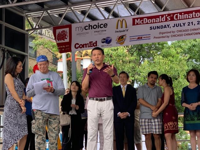 照片五:麥當勞公司運營總監Jonnie Tom致辭