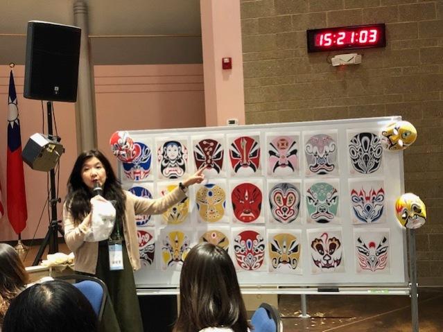 楊曉菁講師介紹臉譜彩繪藝術