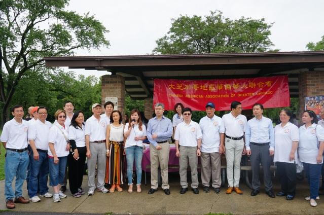 照片一:華聯會主席鄭征致辭