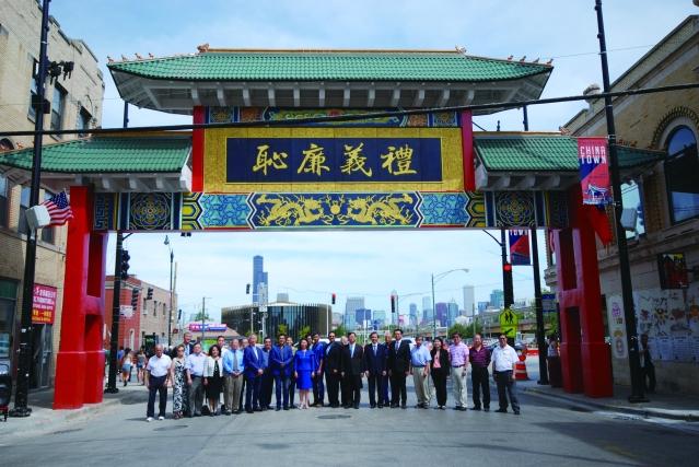 照片十二:中華會館全體同仁、經文處及嘉賓們合影