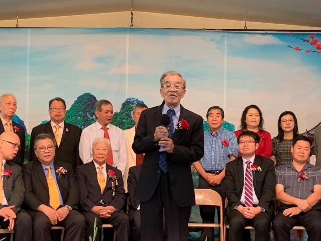 照片五:美洲協勝公會總理林惠明致辭