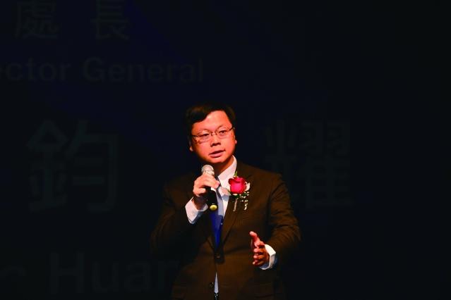 駐芝加哥文化經濟辦事處處長黃鈞耀應邀致詞