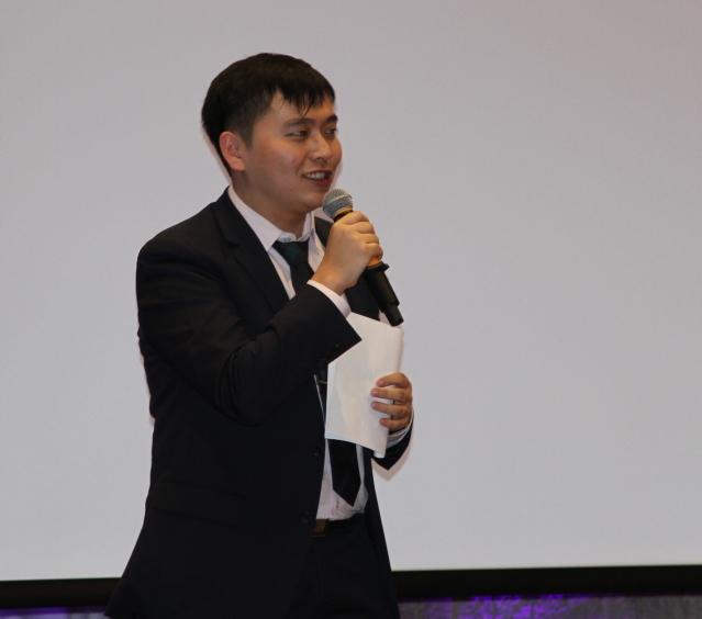 4、美中西學聯聯盟理事長李雨林致辭